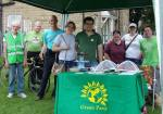 Andrew with Green Party members at Bramley Carnival